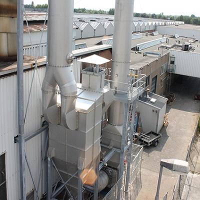 stoffilter installatie rookgas reiniging